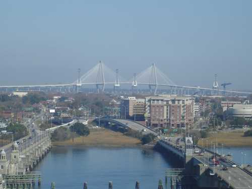 View of Charleston SC from the Holiday Inn