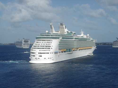 Royal Caribbean's Navigator of the Seas moored at Grand Cayman