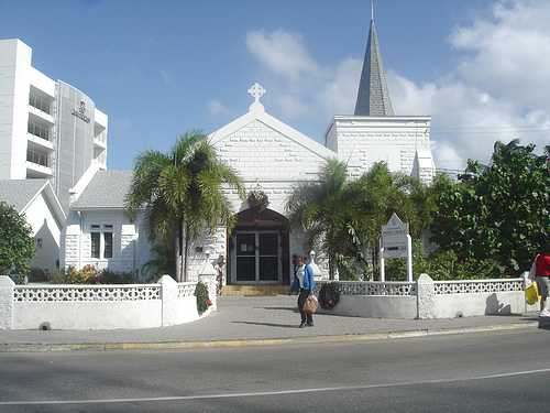 Pretty white church in Grand Cayman