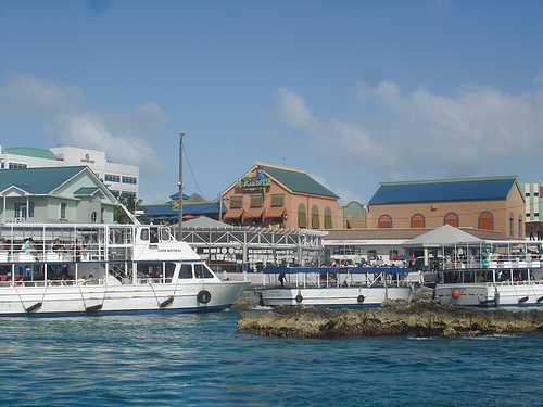 Transport tendering boats on Cayman Waterfront